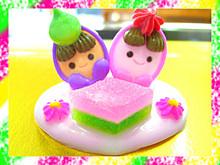ひなまつりケーキ4号☆ひな飾り&ひなBOX