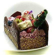 クリスマスケーキ2018年☆3種のプチキャラクターケーキ&3種のプチノエルケーキ& ノエルフレーズ3号☆1~2名様用クリスマスケーキ