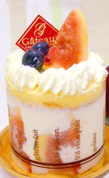 毎月22日のショートケーキの日のみ販売の≪いちじくショート≫。9月~10月のみ