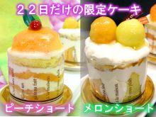毎月22日はショートケーキの日!1日だけの限定販売スイーツ♪苺ショート・ピーチショート・メロンショート・巨峰ショート・いちじくショート