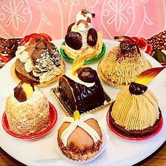 7種の栗スイーツ、和栗、仏産マロン、モンブラン、、チョコ、チーズ、コーヒー、令和元年