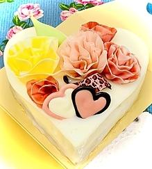 花飾りハートケーキ☆ブラン2020